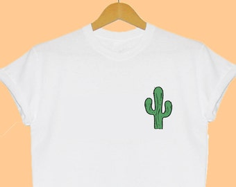 Cactus Plant Pocket T Shirt Plants are Friends Mexican Tee Present Cool Gift Insta Tumblr Dope Cute Holiday Fashion Blogger Summer Tee Cute