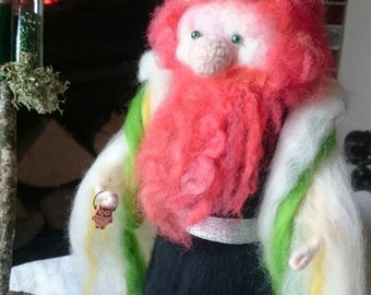 Royal Wizard - hand made wool felt wizard. One of a kind :)