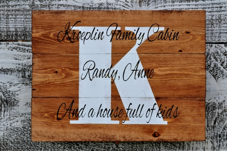 custom wedding sign two