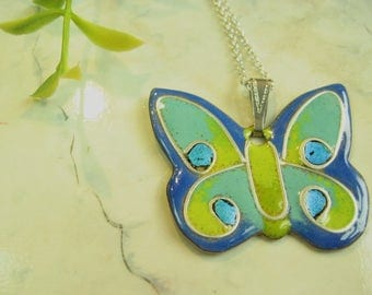 Pendant turquoise Butterfly pendant, butterfly, turquoise butterfly, silver wire, gift for woman, for woman, mother's day, Mother's Day gift