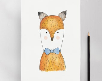 Mr. Fox Illustration Art Print