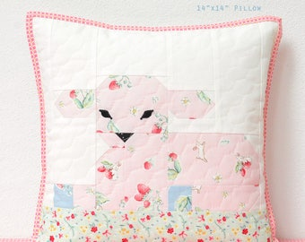 PDF Quilted Pillow Pattern - Little Lambkin