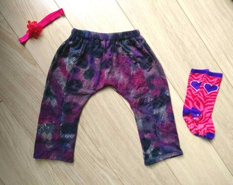 Purple harem pants 12-18 months, purple leggings 1 year, purple harem pants 12 months, purple leggings 18 months, purple harem pants 1 year