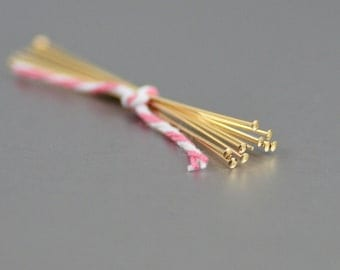 Headpins Gold-Filled 2-inch 22 Gauge
