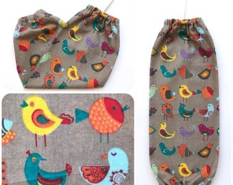 Plastic Bag Holder/ Grocery Bag Holder/ Bag Dispenser - Little Birds