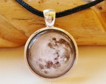 Full Moon Necklace - moon pendant, moon jewellery, moon jewelry, full moon pendant, spiritual jewelry, planet jewelry, galaxy necklace