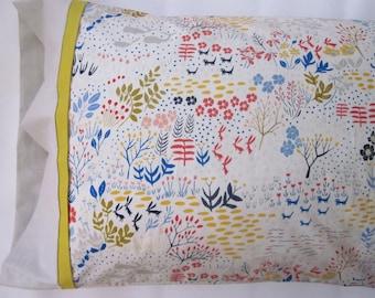 Whimsical Organic Cotton Pillowcase - 100% Organic Cotton