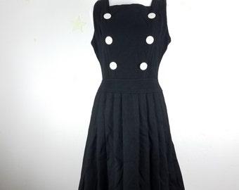 vintage wool dress 1960s madmen MOD style designer Josette