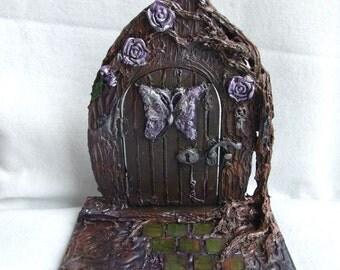Butterfly Fairy door,Fairy door,Pagan door,Fantasy gift, Fairy decor, fairy gift,Miniature door,Woodland fairy door,Fantasy decor,Faerie art