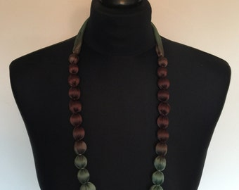 Silk Ombre Dyed Bead Necklaces