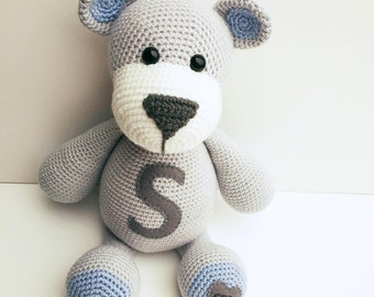Large Handcrafted Personalised Teddy Bear MADE TO ORDER - ideal keepsake, newbaby, baby shower, birthday gift