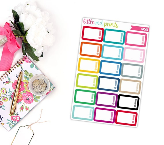 Urgent half box planner stickers for the erin condren life for Half page sticker labels
