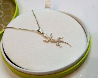 Pendant in Silver 925 Salamender lizard rar SK565
