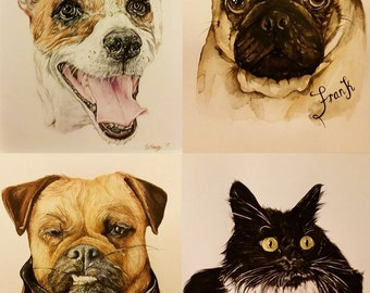 Original Custom Pet Portrait