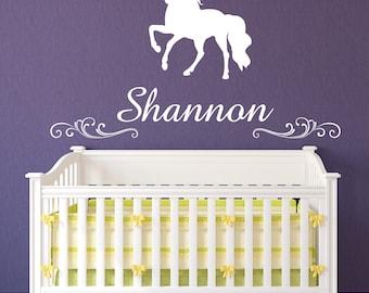 Unicorn Wall Decal, Unicorn Decal, Personalized Unicorn Decal, Nursery Wall Decal, Nursery Decal