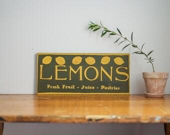 Lemons Farmhouse Sign // Handpainted Farmhouse Decor // Handpainted Sign