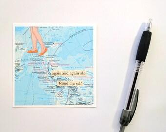 Abstract Collage, Inspirational Wall Art, Journey, Mini Art, Original Art, Self Discovery, True Self, Travel Inspiration, Dreams, Adventure