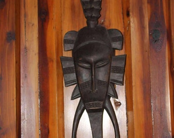 Hand Carved African Ivory Coast Senufo Mask