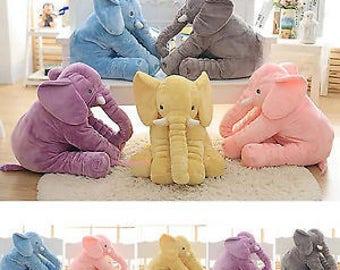 Large Plush Elephant//Elephant Pillow//Personalzied Elephant