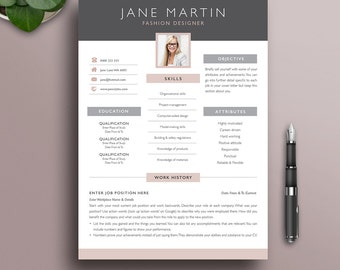 resume template etsy - Creative Resume Template Download Free