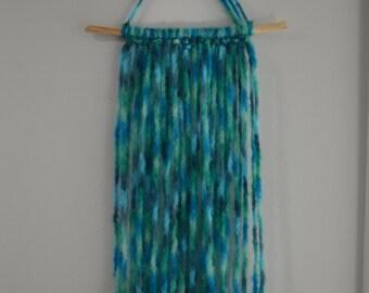 Turquoise Yarn Wall Hanging