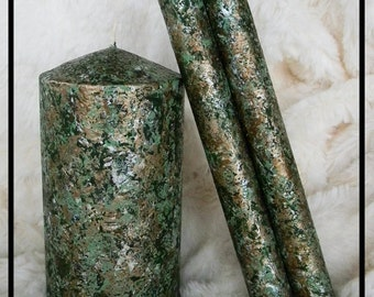 Taper Candles, Pillar Candles, Unique Christmas Candles, Winter Candle, Holiday Candles Decor, Christmas Table Decorations Decorative Candle