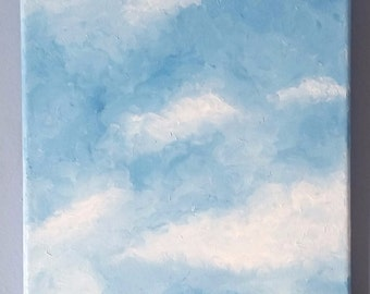 Original Oil Painting - Oil Painting - Sky Painting - Landscape Painting - Finger Painting - Cloud Painting - Canvas Painting - Middlebury