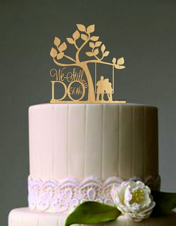 50 th vow renewal or anniversary cake topper we still do - Th anniversary cake decorations ...