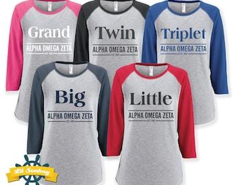 Big Little Grand Twin Sorority Sister Shirt, Greek shirt, Sorority Big Little Reveal, Custom Sorority Fraternity, Big Little Shirt
