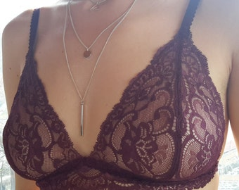 Triangle bra, gift for her, lingerie, women's clothing,wedding,bras,sexy,clothing