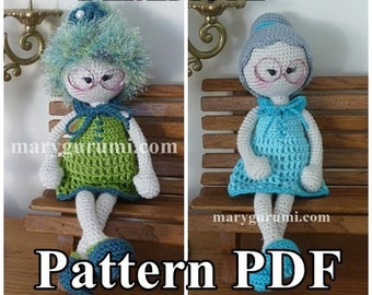 "Crochet Pattern, pattern, tutorial, Amigurumi doll, Bénédicte ""Bun"""
