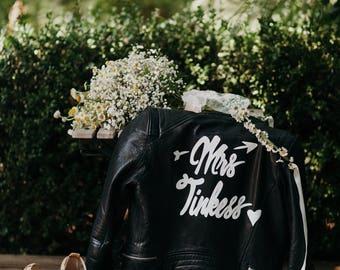 Custom Leather Jacket + Embroidered Robe