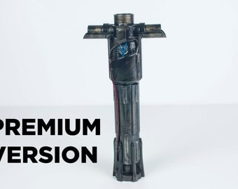 PREMIUM Star Wars Inpired Kylo Ren lightsaber - 3d Printed Prop StarWars TFA Force Awakens sword red light saber