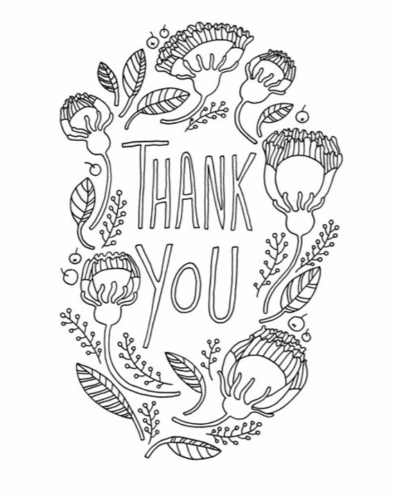 coloring pages thank you card - photo#25