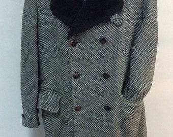 Tweed trench coat | Etsy