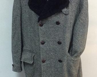 Tweed trench coat | Etsy