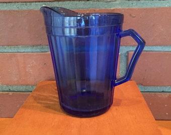 creamer, pitcher, Cobalt, blue.  vintage/antique