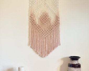 Macrame Wall Hanging - Tribe, Tan Dip Dye