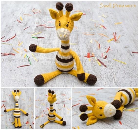giraffe toy safari baby toys crochet giraffe stuffed toy soft. Black Bedroom Furniture Sets. Home Design Ideas