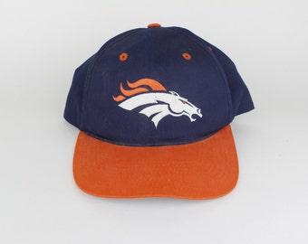 Brand New Dead Stock Vintage 90s Denver Broncos NFL Football Snap Back Hat