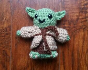 Star Wars Crochet Jedi Master Yoda Amigurumi Doll