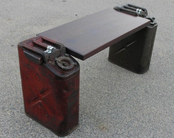 Jerry Can & Mahogany Bench Seat