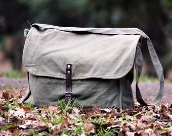 Canvas Bag - Crossbody Bag - Weekender Bag - Laptop Messenger Bag - Vintage Shoulder Bag - Large Canvas Bag - Hiking Bag - Fishing Bag