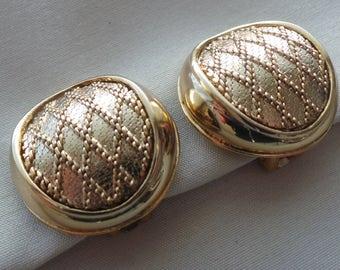 Balenciaga vintage gold brass earrings