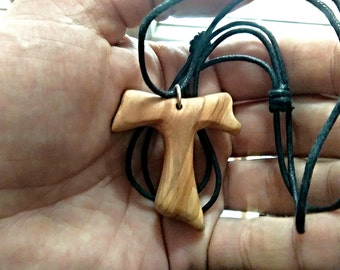 Tau Cross, Tau,Tau Necklace,Tau Pendant, Pendant, Wooden Pendant, Wooden Jewelry, Wooden Necklace.