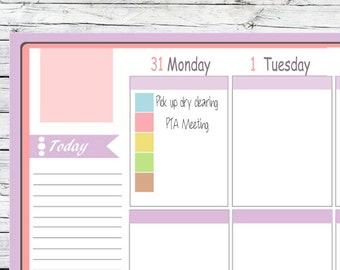 143 Mini Square Stickers Bright Pastels To Use With Erin Condren Planner