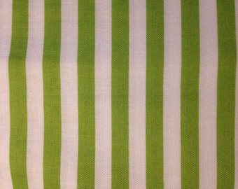 Green and White Stripe by Waverly Inspirations, 100% Cotton
