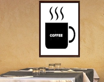 Coffee Cafe Printable Art 8 X 10 Instant Download Wallart Minimalist