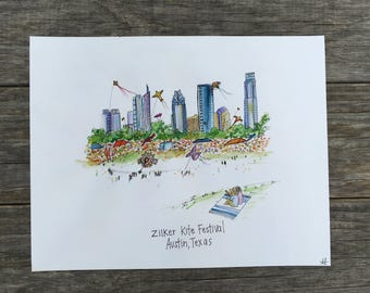 Zilker Kite Festival, Austin TX Print