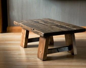 Handmade Low Rustic Coffee Table